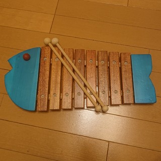 ボーネルンド(BorneLund)のボーネルンド おさかな シロフォン 青(楽器のおもちゃ)