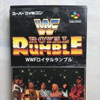 スーパーファミコン WWF ロイヤルランブル(家庭用ゲームソフト)