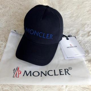 MONCLER - 新品 新作 モンクレール  ロゴ ベースボールキャップ ネイビー