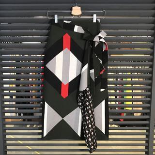 フェンディ(FENDI)の超美品 フェンディ 2017 ロングスカート 36 マルチカラー 巻きスカート(ロングスカート)