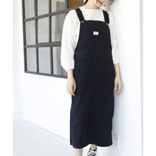 コーエン(coen)の紺ジャンパースカート(ロングワンピース/マキシワンピース)