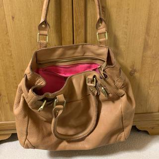 ローズバッド(ROSE BUD)のローズバッド 本革バッグ キャメル(ハンドバッグ)
