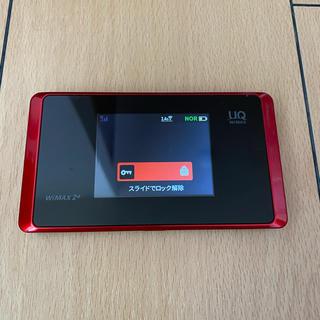 エヌイーシー(NEC)のUQ WiMax WX05 レッド 充電ケーブル付き(PC周辺機器)