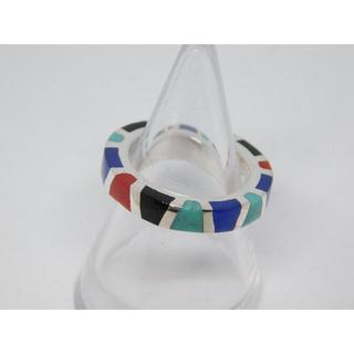 9号 新品 セインツ マルチカラー レジン リング(リング(指輪))
