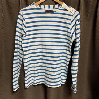 ブルーブルー(BLUE BLUE)の長袖 ボーダーカットソー  BLUE BLUE(Tシャツ/カットソー(七分/長袖))
