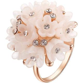 【SWAROVSKI】ジェム お花 モチーフ 指輪 クリスタルリング(リング(指輪))