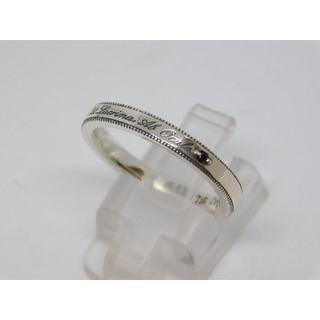 17号 新品 セインツ ブラックダイヤモンド メッセージ リング(リング(指輪))