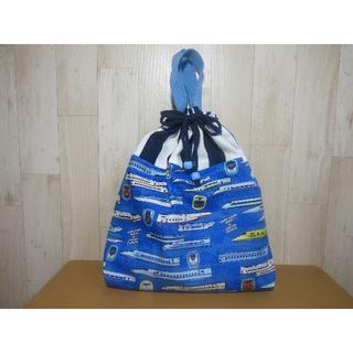 持ち手付き巾着袋(体操服袋・お着替え袋)24(バッグ/レッスンバッグ)