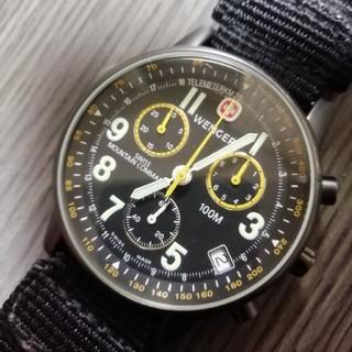 ウェンガー(Wenger)のWENGER マウンテンコマンド 電池新品!(腕時計(アナログ))