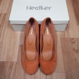 ヘザー(heather)のオレンジスエードパンプス(ハイヒール/パンプス)