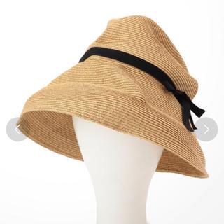 カスタネ(Kastane)のmature ha. boxed hat 11cm(麦わら帽子/ストローハット)