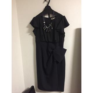 ジャスグリッティー(JUSGLITTY)の新品 未使用 ジャスグリッティー ドレス ワンピース ブラック ネイビー(ミディアムドレス)