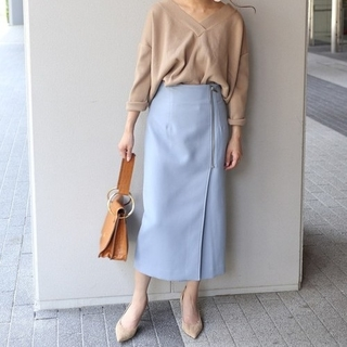 ノーブル(Noble)のNOBLE ノーブル フロントジップタイトスカート(ひざ丈スカート)