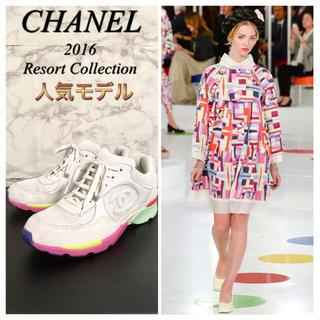 シャネル(CHANEL)の【16C】【G26582】CHANEL ココマークローカットスニーカー(スニーカー)