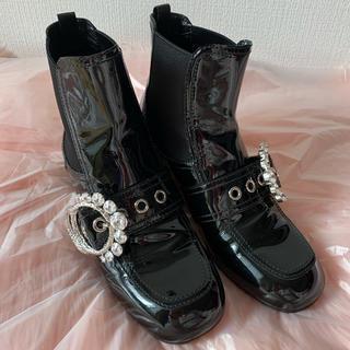専用 miumiu ミュウミュウ ショートブーツ 39 25 24.5