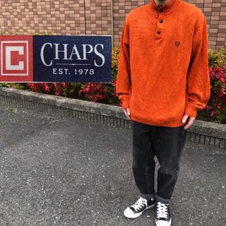 チャップス(CHAPS)のchaps エルボーパッチ付き ニットセーター(ニット/セーター)