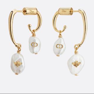 ディオール(Dior)の【新品】DIOR ホワイト カルチャードパール ピアス(ピアス)