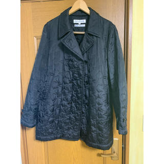 コムデギャルソン(COMME des GARCONS)のコムデギャルソンシャツ キルティングジャケット 黒(ピーコート)