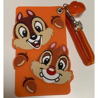 チップアンドデール(チップ&デール)のチップとデール パスケース ICカード ディズニー オレンジ(パスケース/IDカードホルダー)