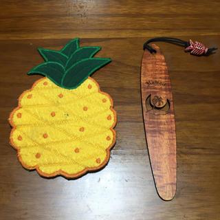 Hawaii パイナップル コースター KOA BOOKMARK(しおり/ステッカー)