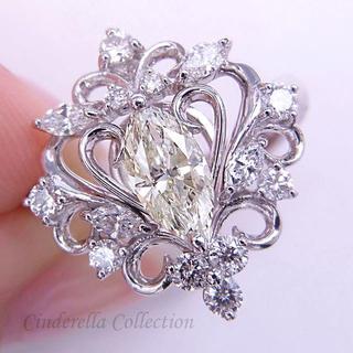 大特価★Pt900天然ダイヤモンド★ロイヤルマーキス王妃様リング(リング(指輪))
