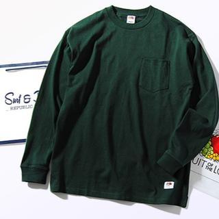 ロンハーマン(Ron Herman)のFruit Of The Loom ビッグロンT グリーンM Tシャツ 長袖(Tシャツ/カットソー(七分/長袖))