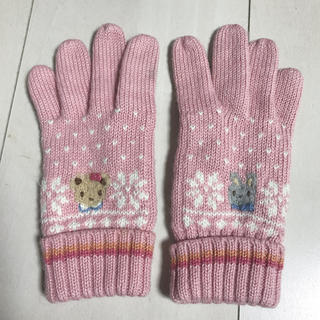 ファミリア(familiar)の手袋 女の子用 ピンク(手袋)