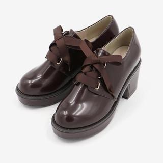 マジェスティックレゴン(MAJESTIC LEGON)の【期間限定今月末まで】ボリュームヒールシューズ ブラウン Mサイズ(ローファー/革靴)
