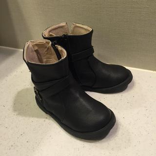 ベビーギャップ(babyGAP)のbabyGAP♡ブーツ♡14㎝♡黒(ブーツ)