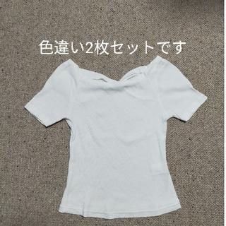 ストロベリーフィールズ(STRAWBERRY-FIELDS)の【2枚セット】リブTシャツ ※BPQCのストールセット(Tシャツ(半袖/袖なし))