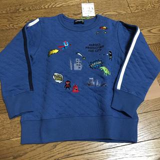 クレードスコープ(kladskap)のクレードスコープ 新品 ヒーロー刺繍トレーナー 青 110(Tシャツ/カットソー)