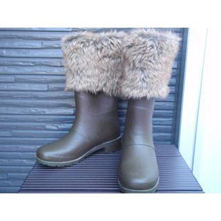 アキレス(Achilles)のアキレス 21cm ブラウン ボア ガール 茶 雪 スノーシューズ スキー 長靴(長靴/レインシューズ)