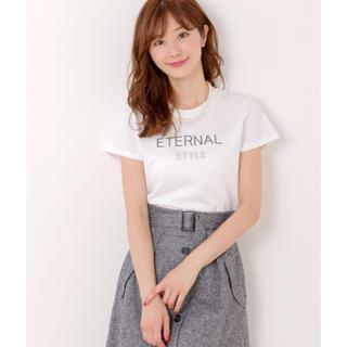 ミッシュマッシュ(MISCH MASCH)の(新品)ミッシュマッシュ パールネックレス付きロゴTシャツ(Tシャツ(半袖/袖なし))