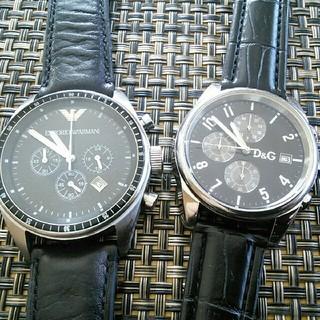 Emporio Armani - ドルガバ アルマーニ クロノグラフ メンズ 腕時計 電池交換済み