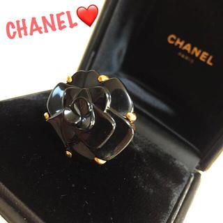 シャネル(CHANEL)の✨定50万✨シャネル カメリア オニキス×k18✨ファインジュエリー リング✨(リング(指輪))
