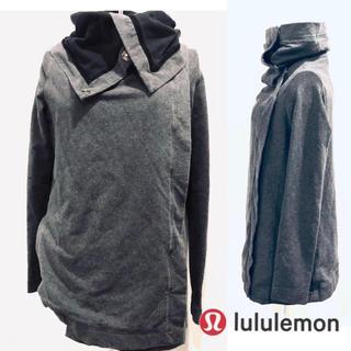 ルルレモン(lululemon)の美品★lululemon savasana ラップジャケット サイズ4 グレー(ヨガ)