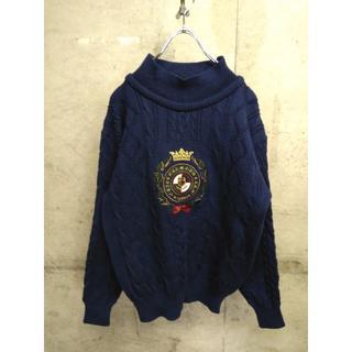 マックレガー(McGREGOR)の80s 90s McGREGOR / マクレガー ウールニット L 刺繍(ニット/セーター)