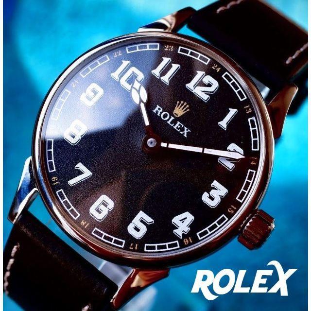 スーパー コピー ロレックス安心安全 / ROLEX - ◆ロレックス◆ OH済/ミリタリー/WWⅡ/裏スケ/アンティーク/腕時計/手巻の通販