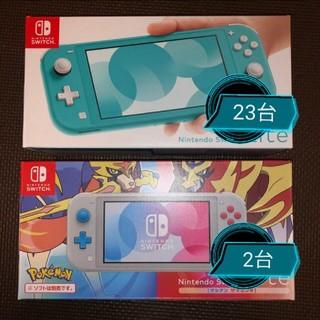 ニンテンドースイッチ(Nintendo Switch)のnintendo switch lite ターコイズ ザシアンザマゼンタ(家庭用ゲーム機本体)