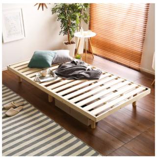 すのこベッド(シングル) パイン材高さ3段階調整脚付き(すのこベッド)