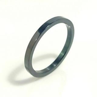 刻印無料 ひらがな可能♪リング ブラックスリム平打ちリング1個(リング(指輪))