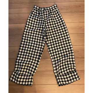 ダブルスタンダードクロージング(DOUBLE STANDARD CLOTHING)のダブスタ⭐︎チェックワイドパンツ(カジュアルパンツ)