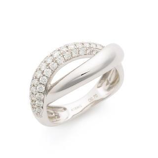 超目玉 新品 ダイヤモンド 0.7ct K18 ホワイトゴールド 指輪 リング(リング(指輪))