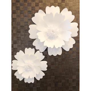 ❁⃘大きな白いお花の壁飾り Paper Flower  A ❁(その他)