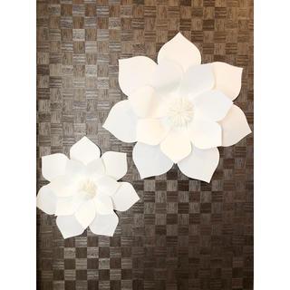 ❁⃘大きな白いお花の壁飾り Paper Flower  B ❁(その他)