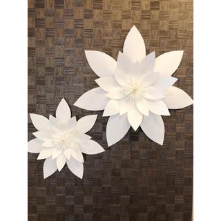 ❁⃘大きな白いお花の壁飾り Paper Flower  C ❁(その他)