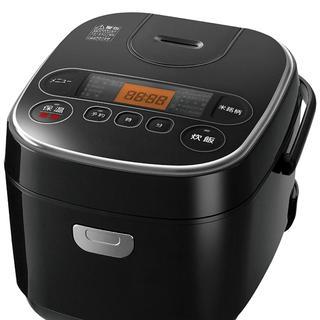 アイリスオーヤマ - アイリスオーヤマ 炊飯器 マイコン式 3合 極厚銅釜銘柄炊き分け機能付きブラック