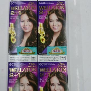 ウエラ(WELLA)の★新品・未使用★ WELLA ウェラ 白髪染め 6CB×4個セット(白髪染め)