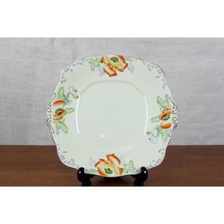 ロイヤルアルバート(ROYAL ALBERT)のロイヤルアルバート ポピー BBプレート 大皿 ハンドペイント イギリス(食器)