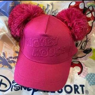 ディズニー(Disney)のミッキー 帽子 ポンポン(キャップ)